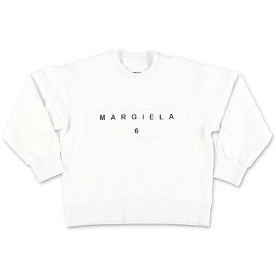 كنزة بيضاء من القطن MM6 Maison Margiela