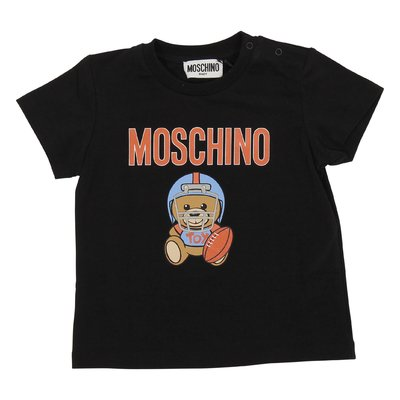Moschino black cotton jersey Teddy Bear t-shirt