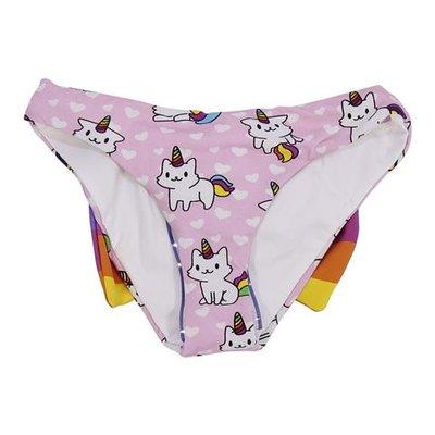 Pink lycra swim briefs