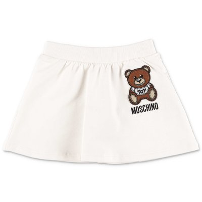 Moschino white cotton jersey skirt