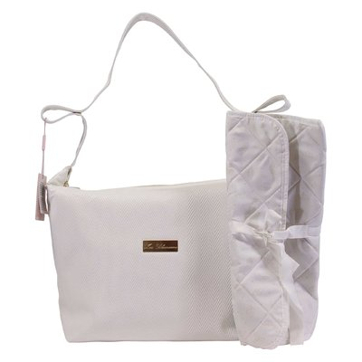 Miss Blumarine white logo detail changing bag