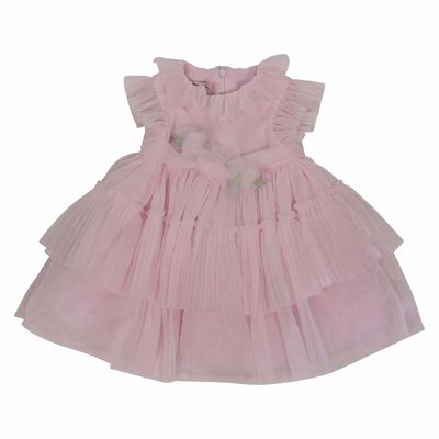 Pink stretch tulle dress