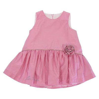 Abito rosa in misto cotone