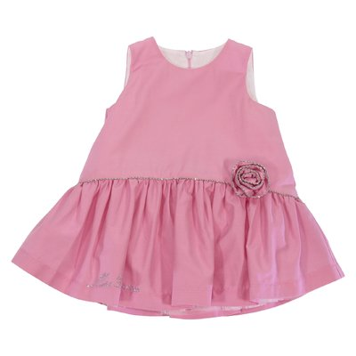 Pink cotton blend dress