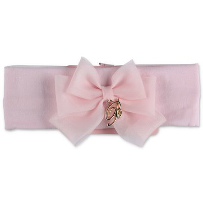 Miss Blumarine pink stretch cotton headband