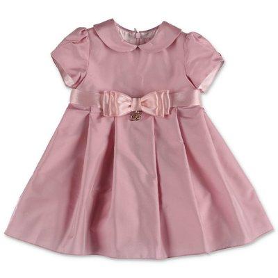 Miss Blumarine abito rosa in raso di seta