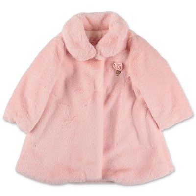 Miss Blumarine pink faux fur coat