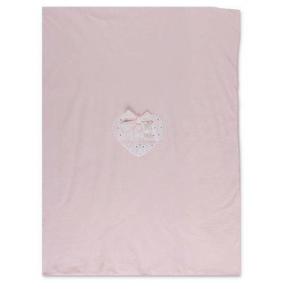 Miss Blumarine coperta rosa in ciniglia di cotone