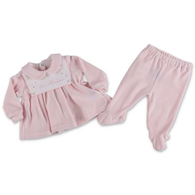 Miss Blumarine pink cotton chenille set
