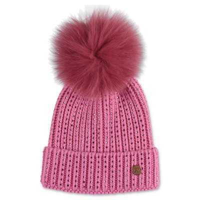 Miss Blumarine pink knit hat