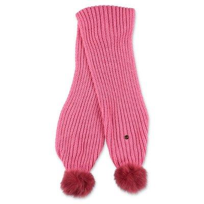 Miss Blumarine sciarpa rosa in maglia di misto viscosa