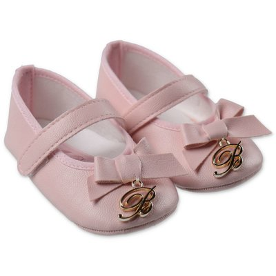 Miss Blumarine pink faux leather prewalker shoes