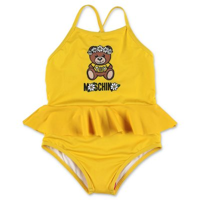 MOSCHINO costume intero giallo Teddy Bear in lycra