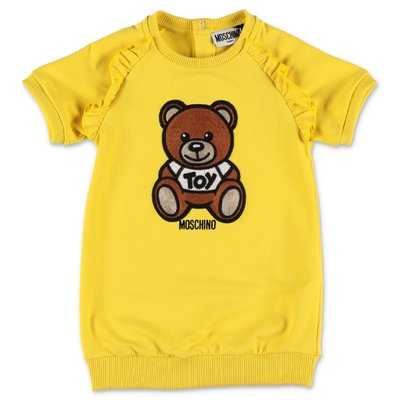 MOSCHINO yellow Teddy Bear cotton dress