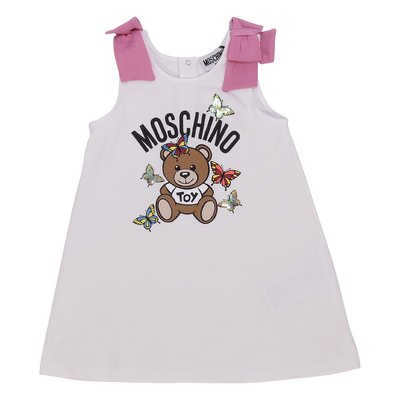White Teddy Bear cotton jersey dress