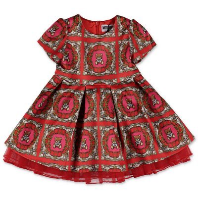 Moschino red printed techno fabric dress