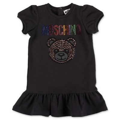 MOSCHINO Teddy Bear black cotton jersey dress