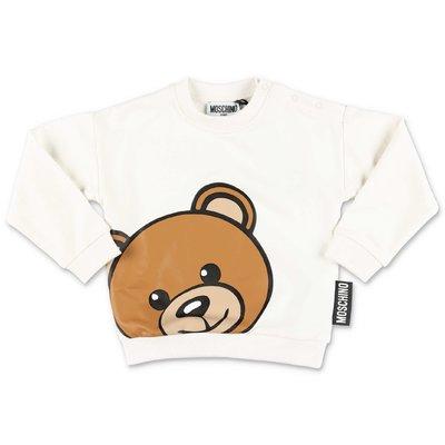MOSCHINO felpa bianca Teddy Bear in cotone