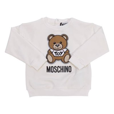 White cotton Teddy Bear sweatshirt