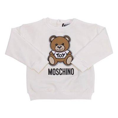 Felpa bianca Teddy Bear in cotone