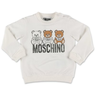Moschino white cotton sweatshirt