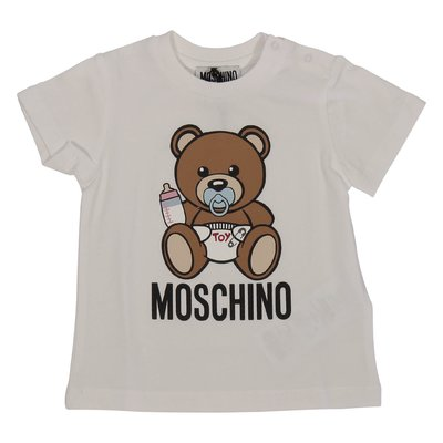 Moschino white Teddy Bear cotton jersey t-shirt