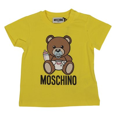Moschino yellow Teddy Bear cotton jersey t-shirt