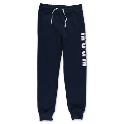MSGM navy blue cotton sweatpants