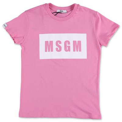 MSGM pink cotton jersey t-shirt