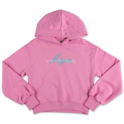 MSGM felpa rosa in cotone con cappuccio
