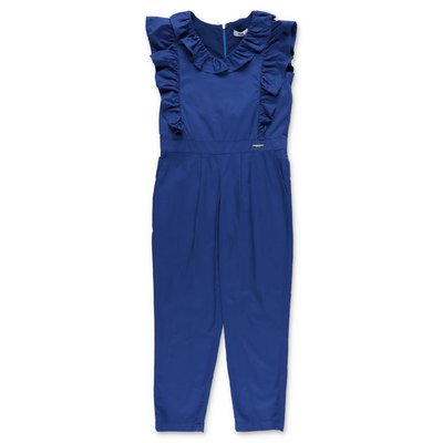 MSGM blue cotton poplin jumpsuit
