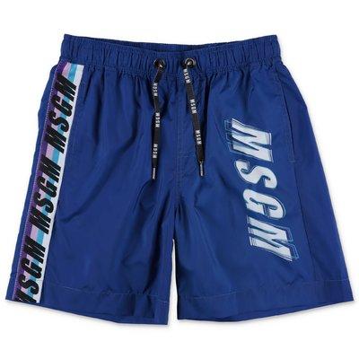 MSGM blue nylon swimsuit