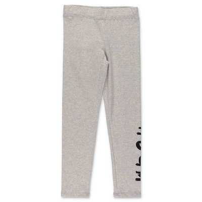 MSGM melange grey stretch cotton leggings