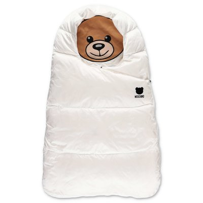 Moschino white padded nylon sleeping bag