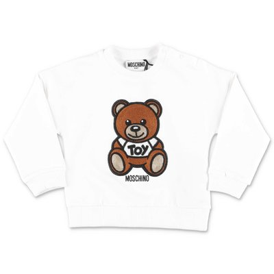 MOSCHINO Teddy Bear white cotton sweatshirt