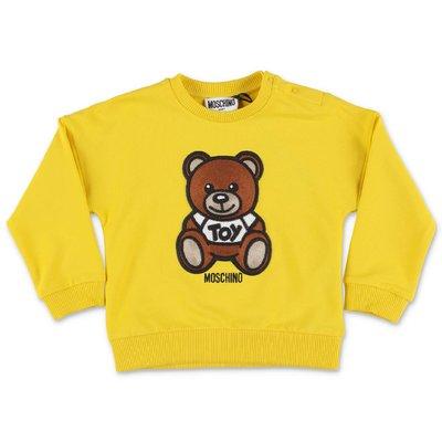 MOSCHINO felpa gialla Teddy Bear in cotone