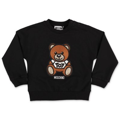 MOSCHINO Teddy Bear black cotton sweatshirt
