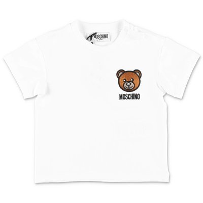 MOSCHINO Teddy Bear white cotton jersey t-shirt