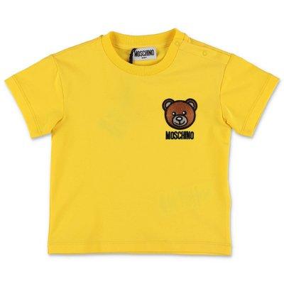 MOSCHINO Teddy Bear yellow cotton jersey t-shirt
