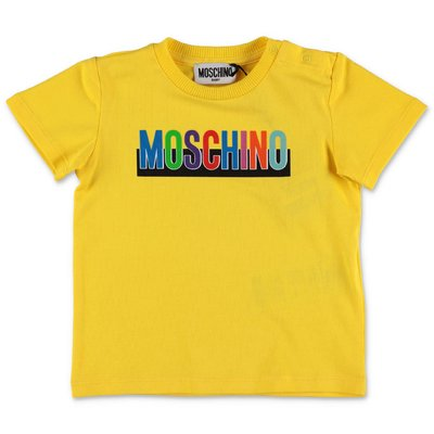MOSCHINO yellow cotton jersey t-shirt