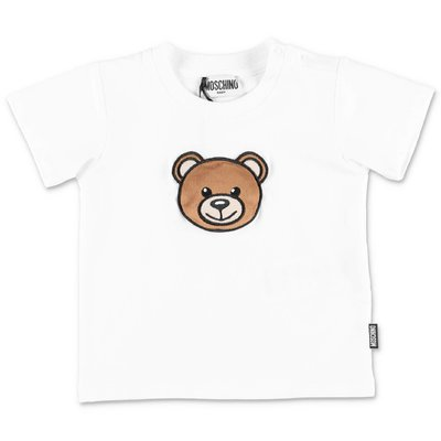 MOSCHINO Teddy Bear white cotton jersey t-shirt