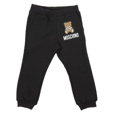 Black Teddy Bear logo detail sweatpants