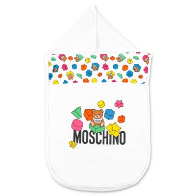 MOSCHINO white cotton sleeping bag