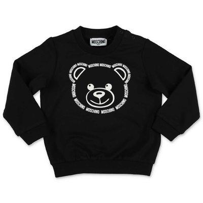 MOSCHINO felpa nera Teddy Bear in cotone