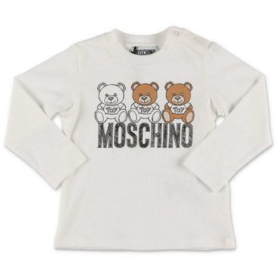 Moschino white cotton jersey t-shirt