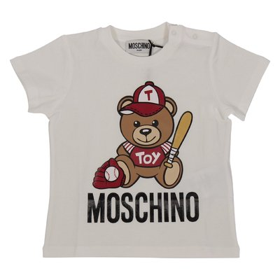 White Teddy Bear cotton jersey t-shirt