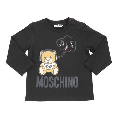 Teddy Bear black cotton jersey t-shirt
