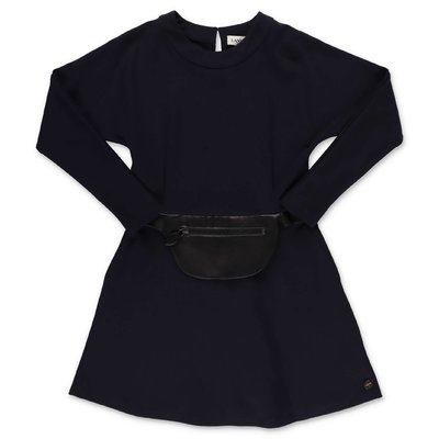 Lanvin dark blue cotton dress
