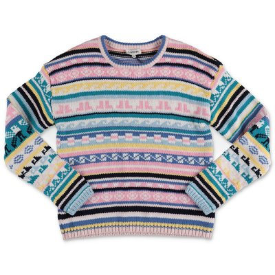 Lanvin multicolor cotton & cashmere knit jumper