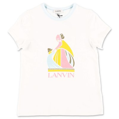 LANVIN white cotton jersey t-shirt